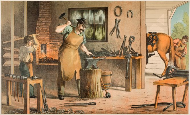 Blacksmith, 1874. Content compilation © 2020, by the American Antiquarian Society. All rights reserved.